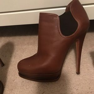 Casadei Brown leather booties